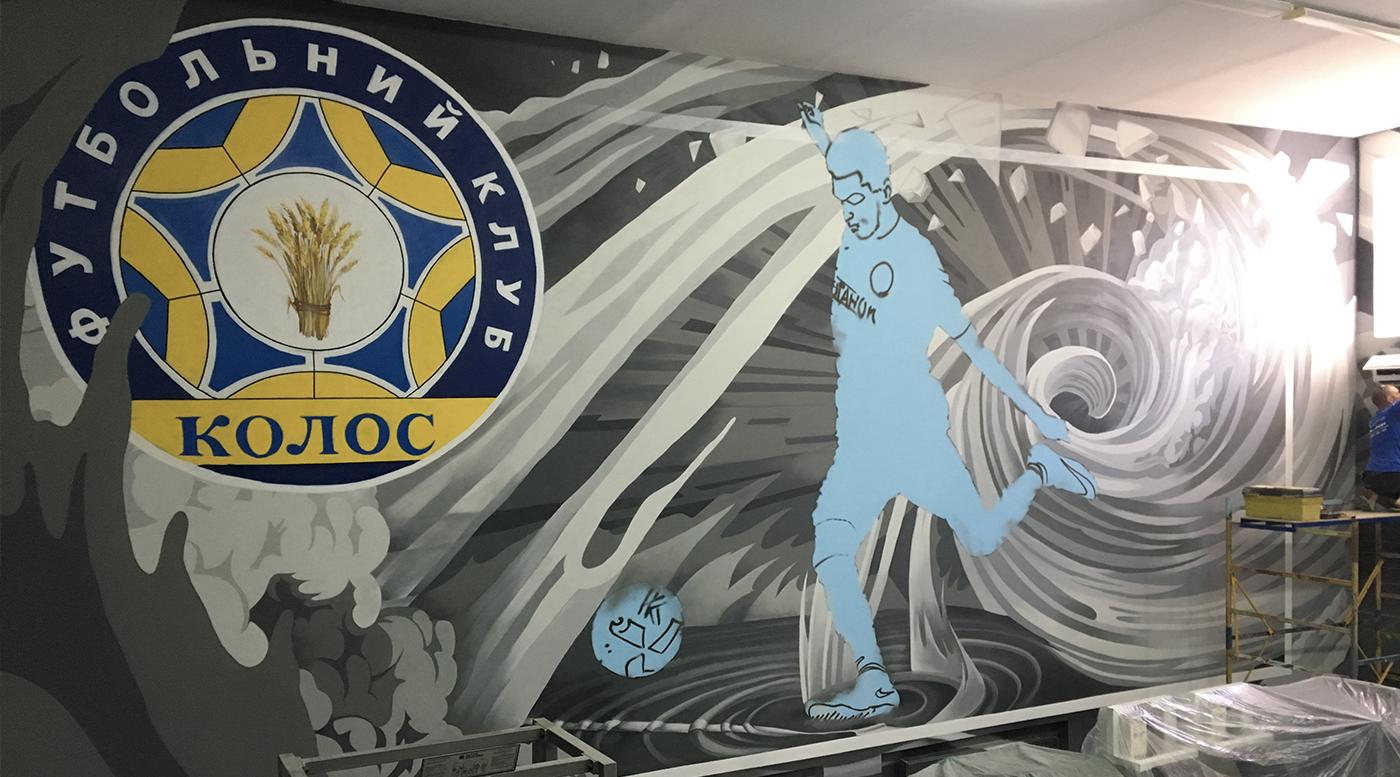 Muralmarket Роспись стен в тренажерном зале 8