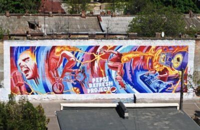 Muralmarket Креативная реклама, мурал, роспись фасада для Pepsi 2