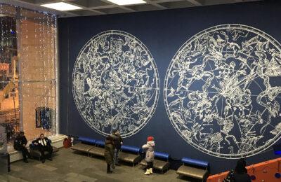 Muralmarket Роспись стен в киевском Планетарии 4