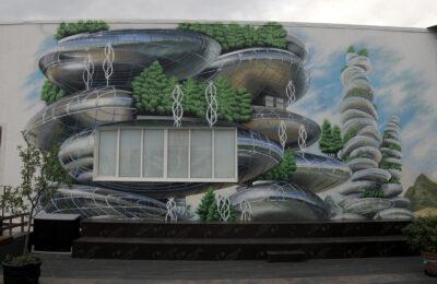 Muralmarket Роспись стен на террасе Pochayna event hall ЦТ Городок 2
