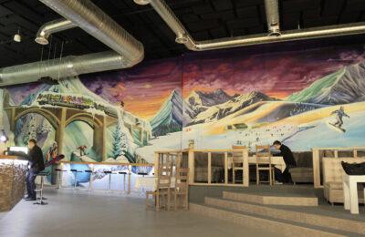 Muralmarket Роспись лыжного клуба Ski club 4