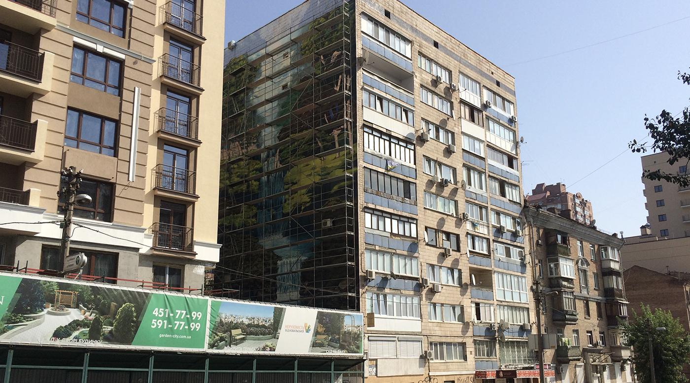 Muralmarket Роспись серии фасадов для ЖК Garden City Residence