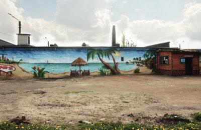 Muralmarket Роспись стен пляжной зоны Pop up Beach Платформа 1