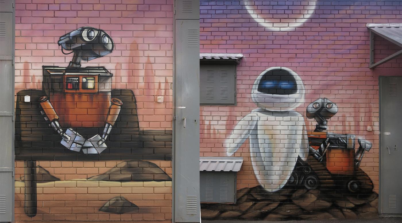 Muralmarket Роспись трансформаторной подстанции в ЖК Комарова 2