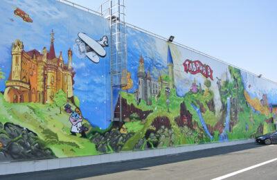 Muralmarket Роспись фасада ТЦ Таврия В Суворовский 3