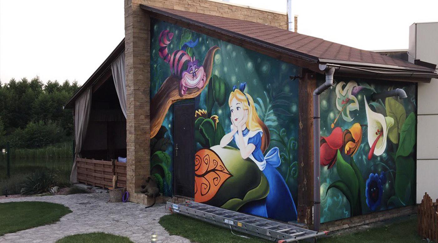 Muralmarket Роспись фасада беседки частного дома