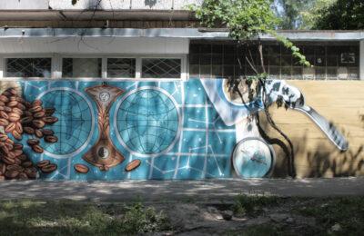 Muralmarket Роспись фасада кофейни Garibaldi г. Киев 2