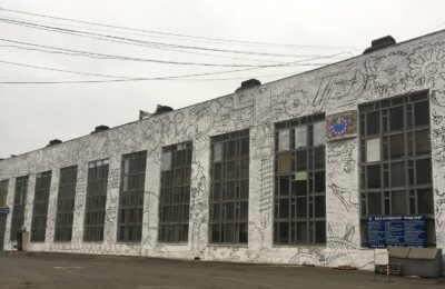 Muralmarket Роспись фасада сервисного металоцентра Видзев г. Николаев 2