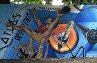 Muralmarket Организация граффити мастер класса на Atlas weekend