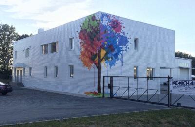 Muralmarket Росипсь и брендирование фасада Kemichal 3