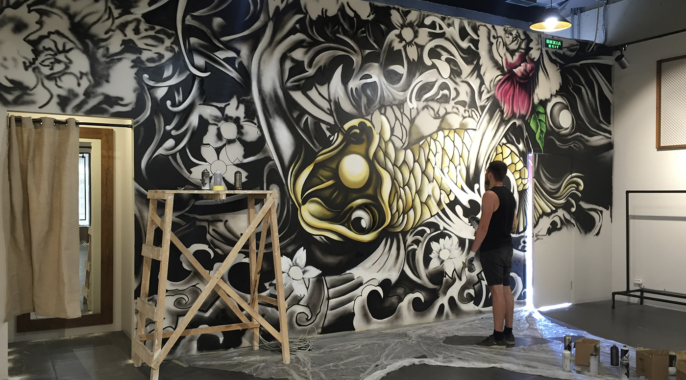 Muralmarket Роспись интерьера бутика Ostriv 3