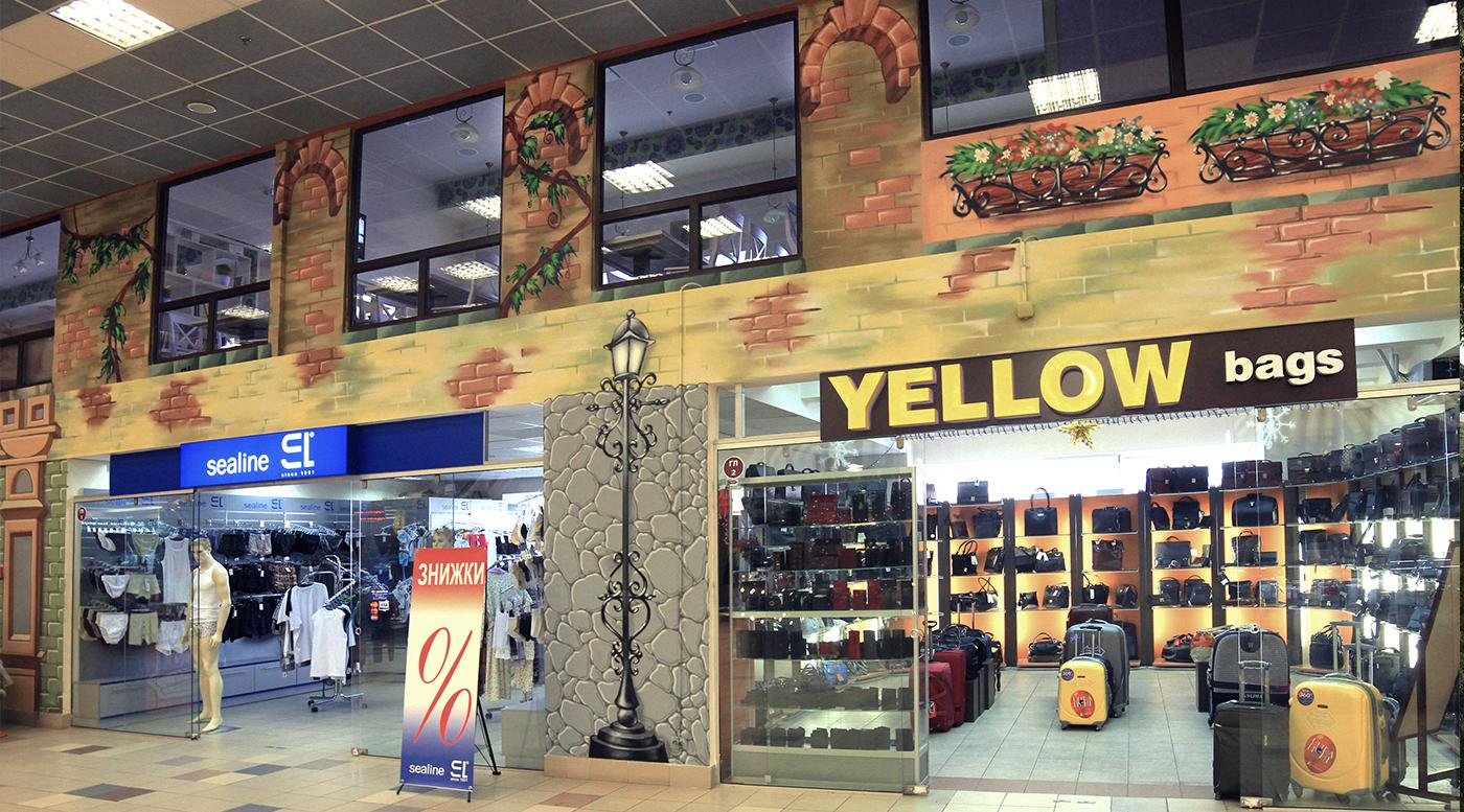Muralmarket Роспись ресторана Два гуся в ТЦ Дарынок 3