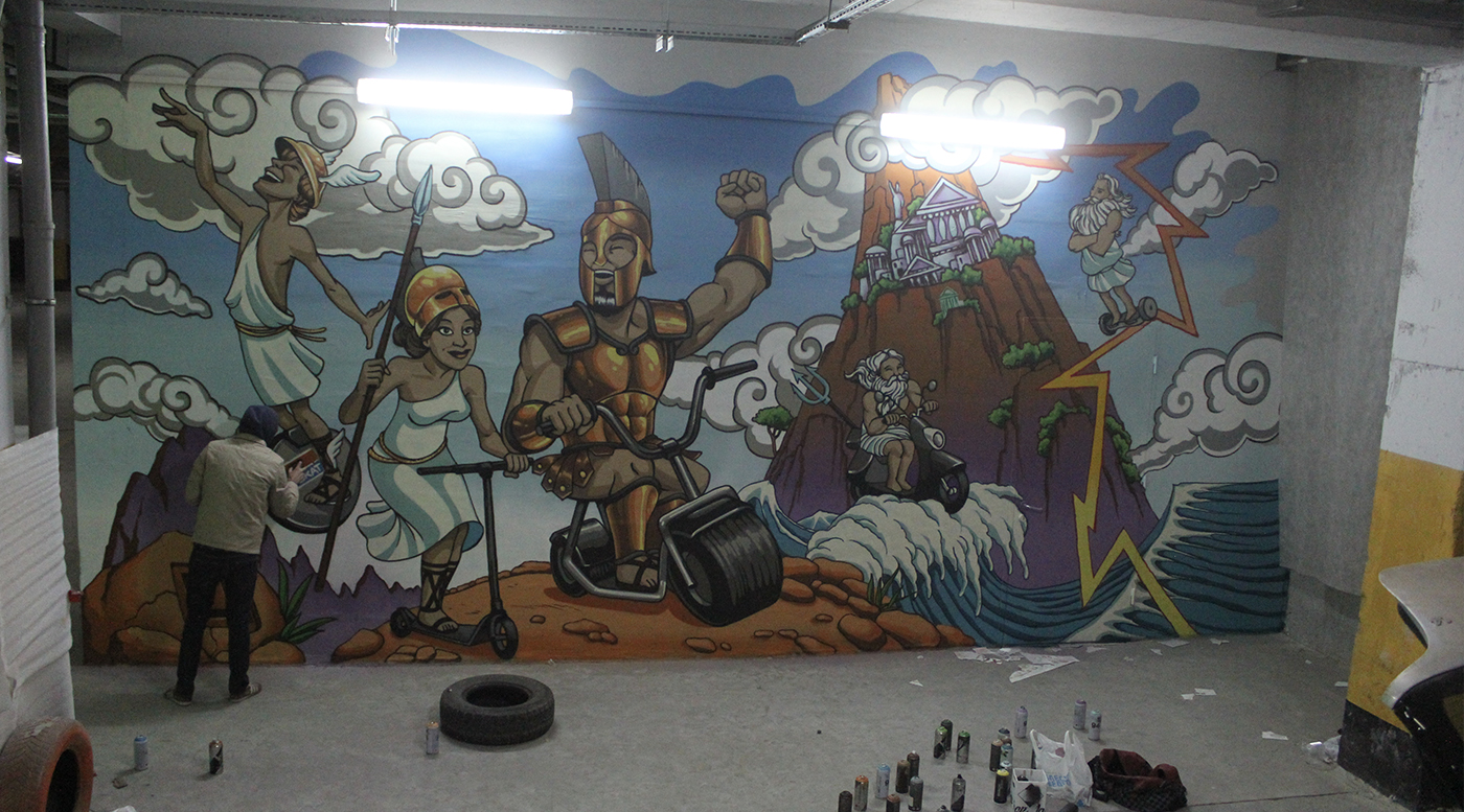 Muralmarket Роспись стены для магазина Цитрус 2