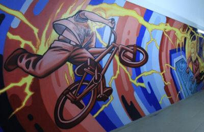 Muralmarket Роспись стен в интерьере на спортивную и музыкальную тематику 3
