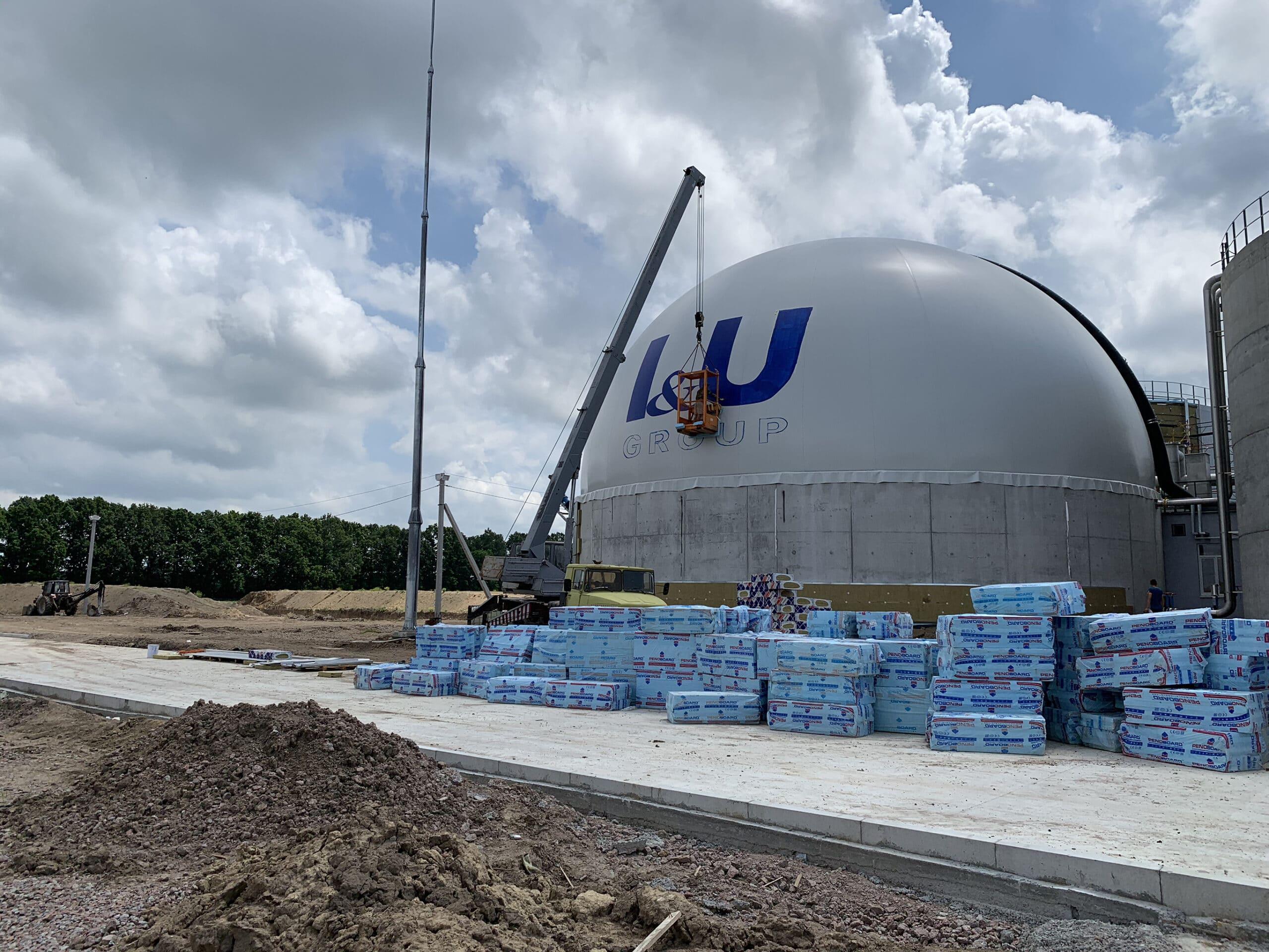 Muralmarket | Брендирование купола биогазового завод