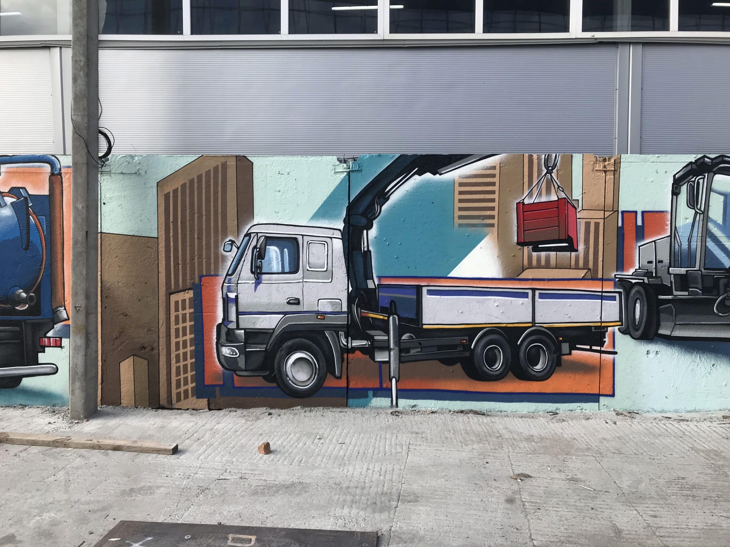 Muralmarket | Мурал на забое предприятия Будшляхмаш 1