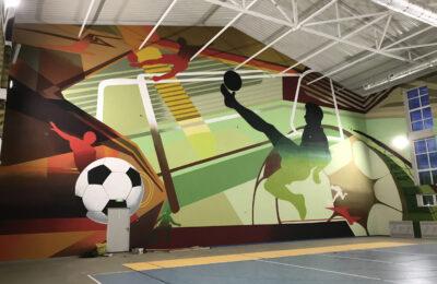 Muralmarket | Роспись стен в школьном спортзале